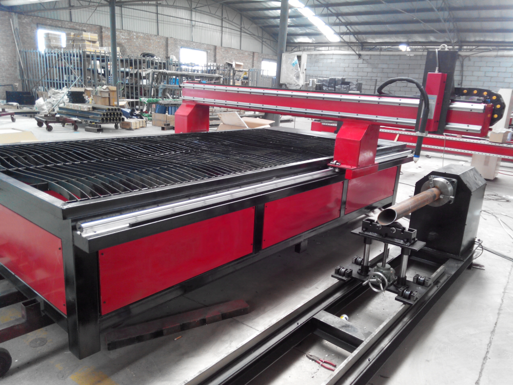 2in1 metal tube pipe cnc plasma cutting machine – Nanjing