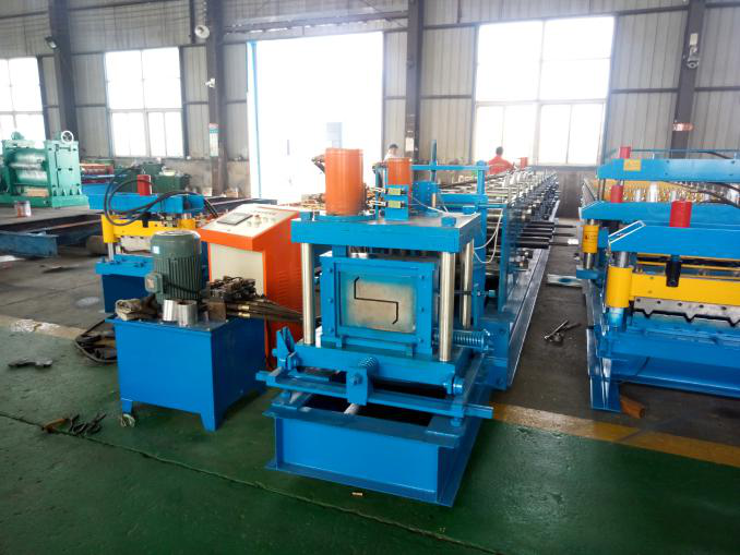 Roll Form C U Z Profile Purlin Machine Z Steel Purlin Roll