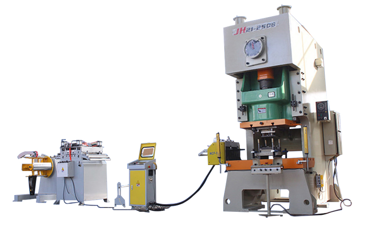 JH21 200Ton high speed power press punching Coil Feeder Line